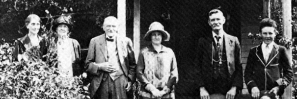 Members of the Johnston family photographed at Ellenthorpe.