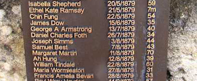 Photo of All Saints Church plaque to Samuel Best and other former inmates of the nearby prison, orphanage and, in particular, the Parramatta Lunatic Asylum.