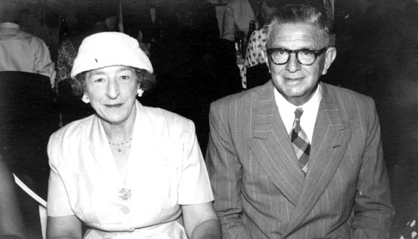 Photo of Ruby and Ralph Johnston taken in the late 1950's