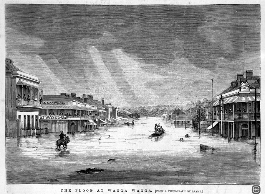 David Ronald Biggs and Jane Campbell had an awareness of floods and that they probably encountered the 27 April 1870 flood during their first year in Wagga Wagga.