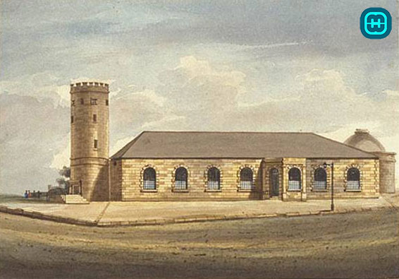 Picture of St Philips Church Hill Sydney-1798-1856 where Charlotte Robinson and William Rutter where married.