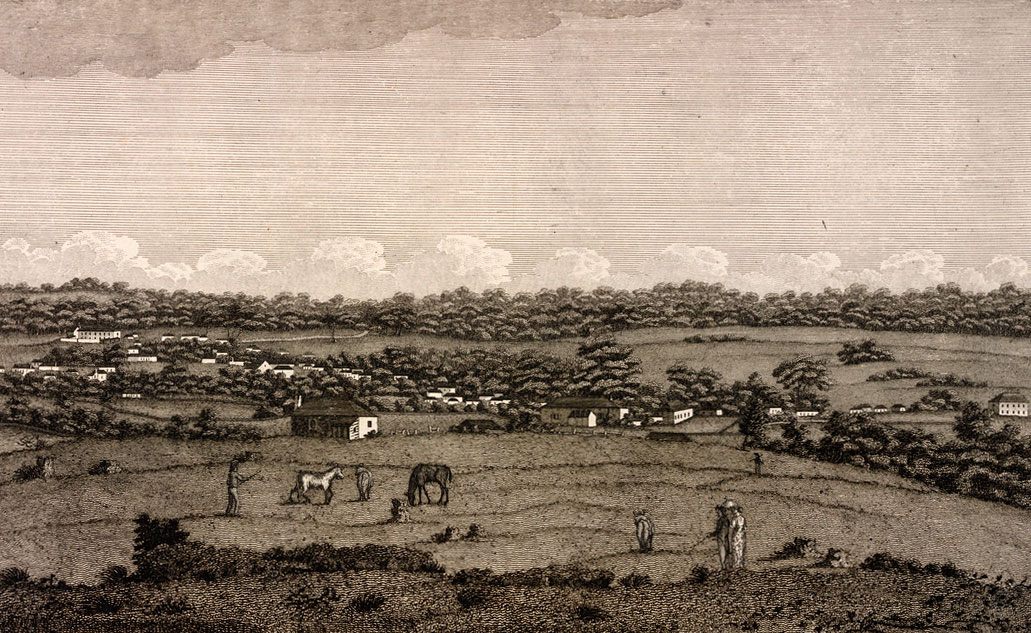 Engraving of the Town of Parramatta c1812