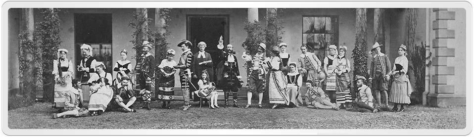 Photograph of the Amateur Opera Company at Marton Hall, Shropshire c.1870s