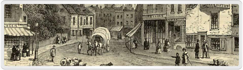 Hackney Street Scene in the 1800's