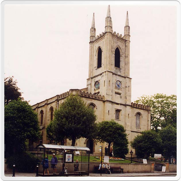 Photograph of the Parish Church, Windsor. Emmanuel Randall and Mathilde Withrigel were married at this Church on 27 December 1859.