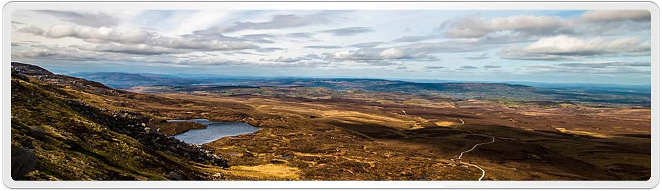 Thomas Black was born in Fermanagh; Norhtern Ireland in 1802. This is a photo of Cuilcagh; Fermanagh by Carl Meehan. License: CC BY-A 2.0; click image to see original photograph.