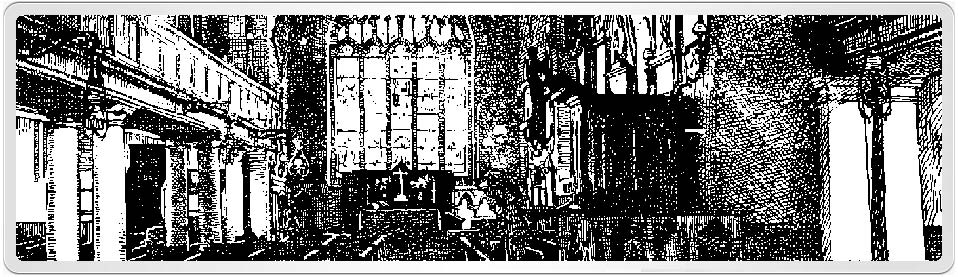 Interior view of the historic Lymington Church where William Rutter was probably baptised on 27th December 1766