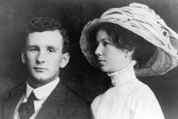 Photo showing Reginald George Williamson and Lucy Jane Cleary on their Wedding Day