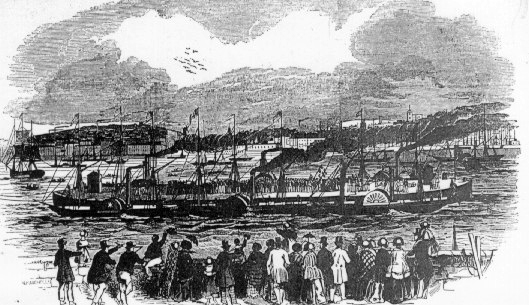 New Landing Stage, Liverpool from the Illustrated London News of June 12, 1847