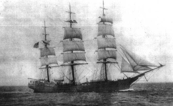 "Picture of the ship ""Hotspur"" that sailed from Plymouth, England, on December 3, 1860 and arrived in Australia on February 24, 1861."