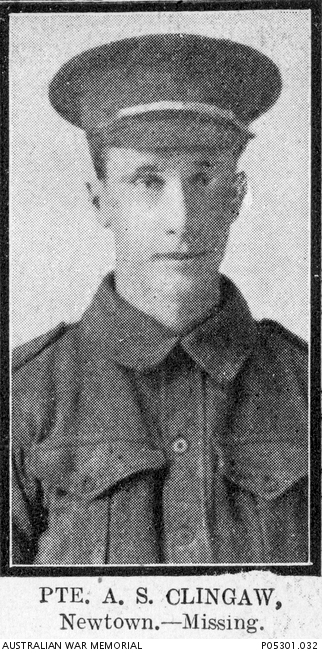 A studio portrait of Alick Clingan taken in 1915, before he left Sydney in October 1915 to fight in the Great War