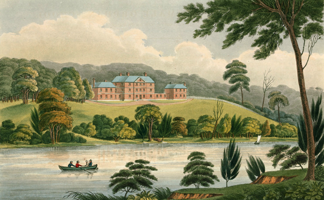 Original painting of Female Orphan School by Joseph Lycett