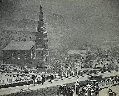 Picture of St Cuthbert's Church, Lothian Road, Edinburgh where Thomas Fallside probably married Rachel Downie in September 1819