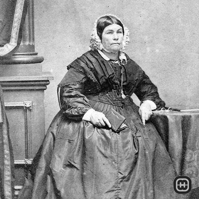 Cecilia Sophia Rutter - portrait photo probably taken by William Blackwood in 1862-3