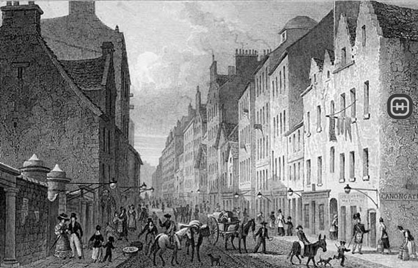 Drawing of Cannongate Parish, Edinburgh, Scotland