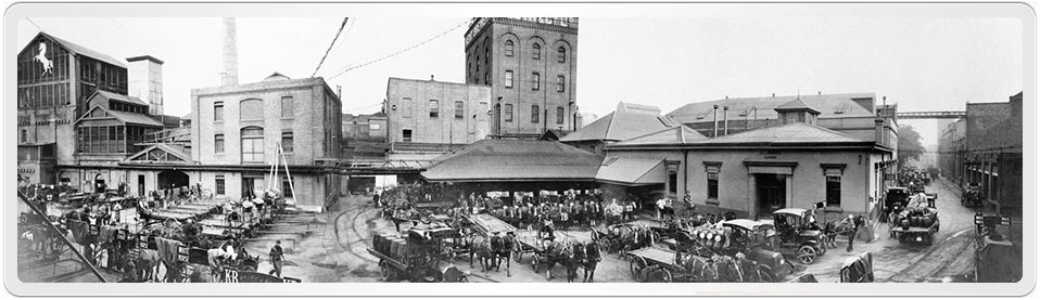 Panoramic view of the Kent Brewery in Sydney