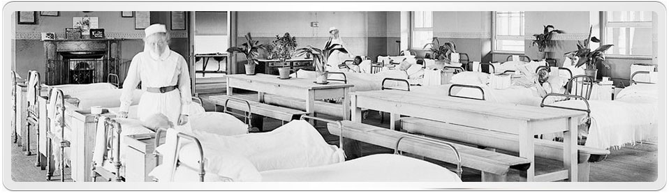 Nurse in Hospital Ward Liverpool Asylum