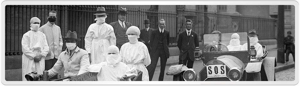 Nurses and Doctors shown in early 1919 during the Spanish Influenza Outbreak in Sydney