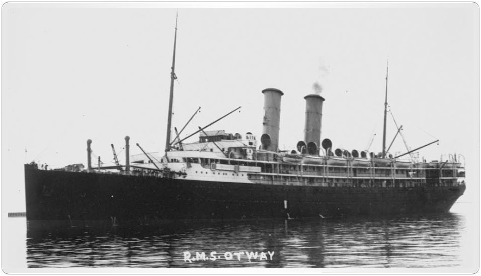 Photograph of RMS Otway that arrived in Sydney on 11 December 1909