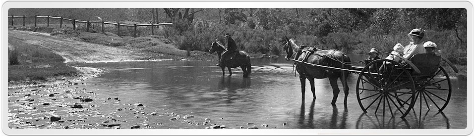Photo by H Mellor of the ford, River Lett, Gap Road, Lithgow