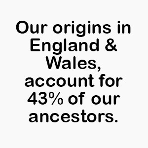 Origin DNA results for England and Wales