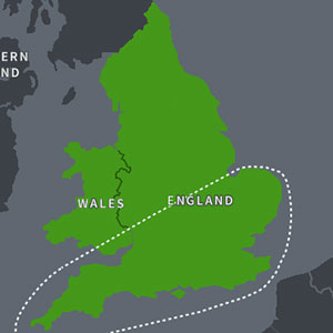 Map Image of England and Wales