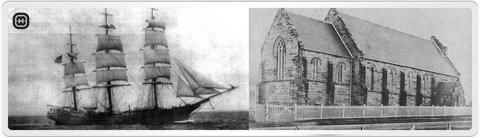 Immigrant Ship Hotspur and St Patricks Church, Parramatta