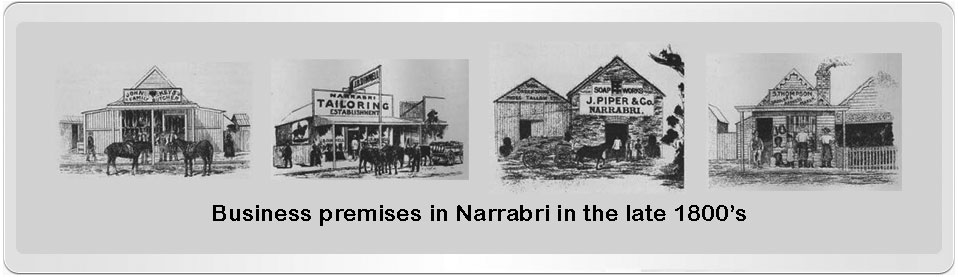 Business premises in Narrabri between 1833-1900