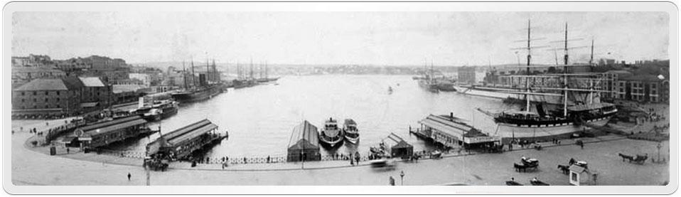 Photograph of Sydney's Circular Quay in 1880