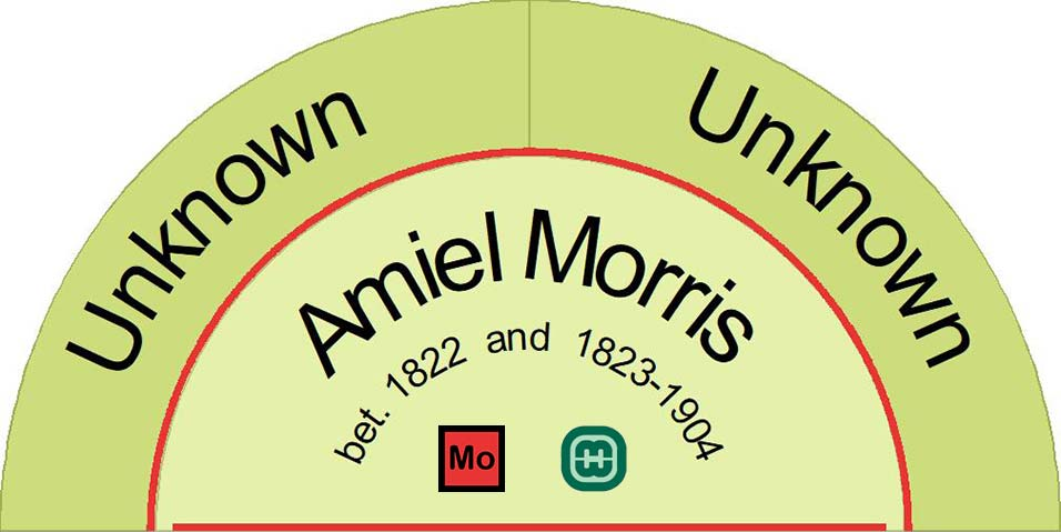 The parents Amiel Morris are not known