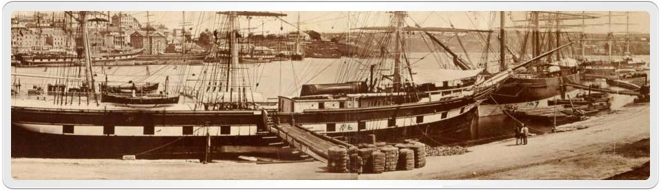Isabella Smail was born in Sydney in 1843. This early photograph shows nearby Circular Quay, it was taken in 1871