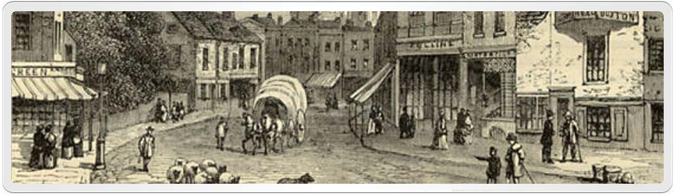Hackney Street Scene in the 1800's