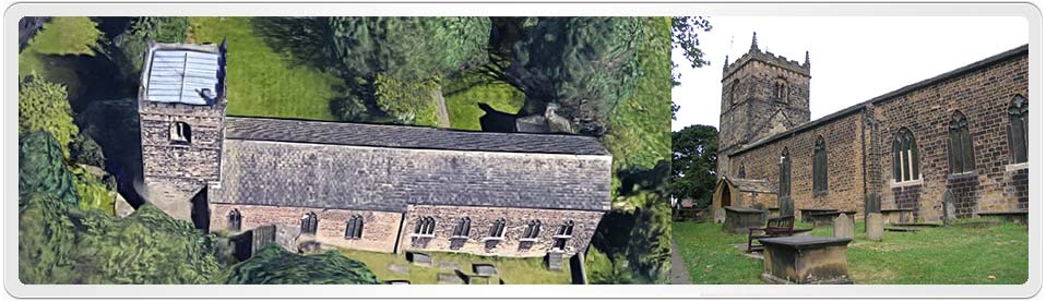 St Mary's Parish Church, in Woodkirk, Yorkshire, where Charlotte Robinson was baptised on 17th January 1777.