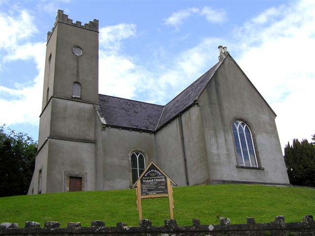 Photo of the the Parish Drumkeeran Church of Ireland at Tubrid near Kesh built in 1774. It was this church that the Johnston, Crawford, Gray and Wilson families attended.
